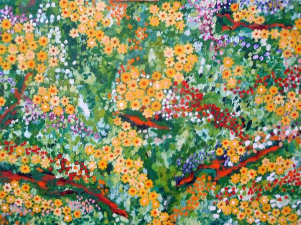 Prohibido pisar las flores 96x116cm